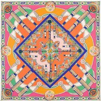 Wholesale Europe street H counter synchronization new crown heavy silk twill shawl scarf scarf