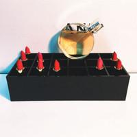 asia logos - Classic brand LOGO Acrylic CC fashion female makeup tools makeup holder pen barrel beauty cosmetic storage box