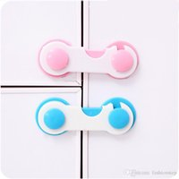Wholesale Door Drawers Wardrobe Todder Kids Baby Safety Plastic Lock Pink Blue Cover New product Promotion