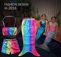 Wholesale New Pieces Children s suit Girls in bikini mermaid times Mermaid suits children s clothes