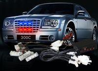 Wholesale Red Blue x3 LED Strobe Flash Warning EMS Police Car Truck Light Flashing Firemen Lights x