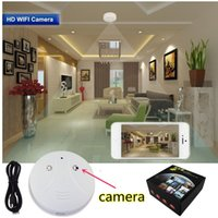 android cam - Wi Fi Smoke Detector Camera Wireless IP Camera P HD Motion Activated Video Recorder Mini DVR Security Cam Suppot Android IOS