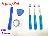 Wholesale 6 in1 Hand Tools mobile phone Opening Pry Repair Screwdrivers Tools Kit Set For iphone s plus s s ipod set
