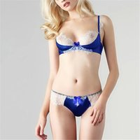 Wholesale Lace Women Bra Sets Push Up Underwire Padded Bra Underwear Lingerie Outfits