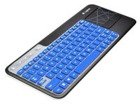 Wholesale Ultra Thin silicone soft keyboard cover skin forLogitech Wireless Touch Keyboard K400 and K400r Blue