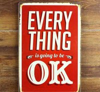 bathroom things - EVERY THING IS GOING TO BE OK Creative tin posters cm decorative sheet metal painting decorative crafts and gifts