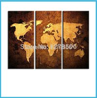 Cheap Hand Painted Abstract Oil Paintings On Canvas Hang Picture World Map For Living Room Wall Decor Paintings