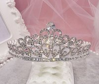 Cheap Proud as a Peacock Crystals Bridal Crystal Veil Tiara Crown Headband Hair Accessories Party Wedding Tiaras 2016 Best Selling
