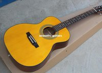 Wholesale price New Hot Sale OEM inchesYellow Acoustic Guitar Chrome Hardwares Rosewood Fingerboard Offer Customized