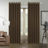 Wholesale Contemporary Solid Bamboo Fiber Grommet Top Blackout Curtains Drapes With Multi Size Custom