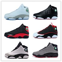 airs sports games - With Box Top quality air retro XIII mans Basketball Shoes Bred Navy Game hologram grey toe Flint Grey Athletics Sport Sneaker Boots