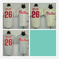 baseball chase utley - Mix Order Stitched Baseball Jerseys Philadelphia Phillies Chase Utley White Cream Gray Cheap Home Road MLB Jersey
