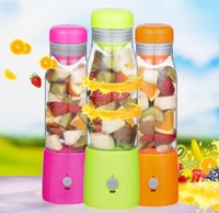Wholesale portable usb power rechargeable fruit blender electric juicer cup ml capacity glass drinking cups convenient and healthy
