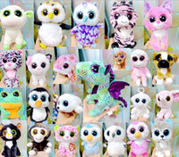 big eyed kids - Hot Plush Toy TY Beanie Boos Big Eyed Huskies Simulation Animal TY Stuffed Animals Super Soft cm with Tag Children Gifts