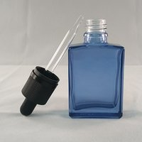 aqua glass bottles - Hot Mail ml Transparent Aqua Blue Square Glass Bottles Glass Glue Dropper Head With Children Helmet Or Anti Theft Caps