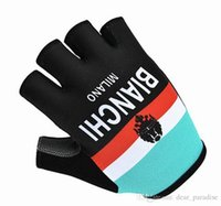 Wholesale High Quality Sky Caste Scott And Movistar Road Bicycle Black White Half Finger Unisex Road MTB Cycling Protective Gear Sports Gloves S XL