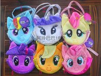 anime tote bags - new My Little Pony Plush bag Rainbow Pony tote bags Children s coin purses