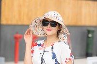 Wholesale Women Fashion Visor Sun Hat Women Girl Floppy Derby Straw Hat Wide Large Brim Sun Summer Beach Hat