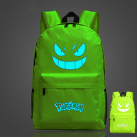 backpack animation - Hot Game Backpack Poke Go Gengar Pikachu Galaxy Luminous Printing Backpack Animation SchoolBags for Teenagers Mochila