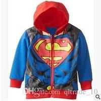 Wholesale 50pcs LJJC2134 New Arrival Children Batman Spiderman Superman Coat Cotton Hoodies Casual Children Cartoon Zipper Hoodies Kids Clothes