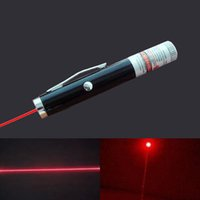 Cheap Wholesale Retail 1pc Mini Red Laser Pointer Powerful 5mw Pen Shaped Single Point Red Caneta Laser