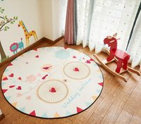 baby table chairs - Children sitting room the bedroom bed blanket carpet tea table mat baby room big computer chair cartoon round carpet mat