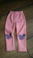 Wholesale warm autumn and winter children girls cartoon velvet legging pant kids trousers children long pants