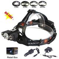 Wholesale Boruit Modes Head Lamp Bead T6 R5 LED Headlamp Camping Fishing Light Bike Headlight Linterna Lampe Frontale