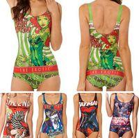 batman swim suit - 2016 hew Women Bikini D Digital print Blackmilk Batman red king swimwear women Digital print Suit swimsuit Bodysuit one piece swimming suit