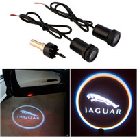 auto symbols - For JAGUAR Car Auto Laser Projector Logo Illuminated Emblem Under Door Step courtesy Light Lighting symbol sign badge LED Glow