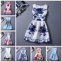 Wholesale Cheap Ladies Clothing Wholesale - 20 Style Choice Girls Best Sale 2015 Summer Dresses Cheap Clothes China Beach Bodycon Dress Floral Printing Vest Dress Lady Dresses