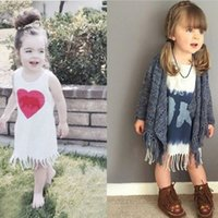 boat t shirts - Kids Dresses Kids Clothing Toddler Kids Baby Girl Summer Clothes Sleeveless Party Tassel Tops T Shirt Dress