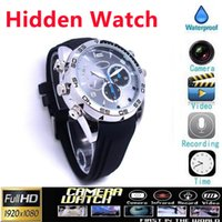 Wholesale 1080P Watch Camera Waterproof GB GB SPY Watch DV Audio Video Voice Recorder Night Vision Hidden Camera