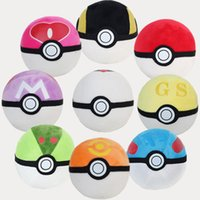 Wholesale 16CM Anime Poke Monster Ball Plush Premier Ball Honor Ball Toy Soft Stuffed Doll Poke Ash Poke Ball Plush Ball Toys YC8090