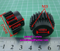 Wholesale 1modulus teeth black POM plastic spur gears for textile machine with shaft diameter mm
