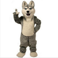Wholesale 2016 Hot Sale Husky Dog Mascot Costume Adult Cartoon Character Mascota Mascotte Outfit Suit Fancy Dress Party Carnival Costume