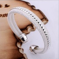 Wholesale 1Pc Fashion Silver Plated Open End Cuff Bracelet Bangle Xmas Womens Gifts