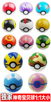 Wholesale 13 style cm Cute Pokémon Poke Ball Pokeball Mini Model Classic Anime Pikachu Super Master Pokémon Ball Action Figures Toys