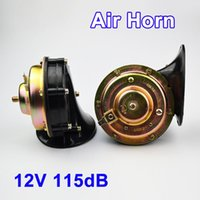 Wholesale Loud V dB Two Air Horn Snail Set Dual Twin Tone Black For Car Truck Motorcycle Bike Van Boat