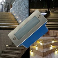Wholesale Outdoor led stair light W led wall lamp night light led Step light recessed floor light warm white waterproof