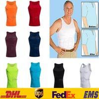 Wholesale DHL Men Slim lift Vest Body Shapers Comfortable Underwear Belly Slimming Shirt Boy Body Shapewear Elimination Sexy Girdles Male Beer ZJ V01