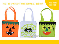 Wholesale Halloween Package bag Fabrics bags Festival package box Party celebration Pumpkin Bat Cat Drop shipment wholesales