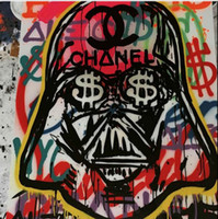 Wholesale New Design Star war Genuine Handpainted Alec Monopoly Pop Art oil Painting On Canvas Museum Quality any coustomized size Available