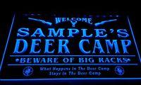 big led signs - LS583 b Name Personalized Custom Deer Camp Big Racks Bar Beer Neon Sign