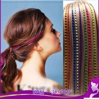 Wholesale 100pcs package Color inch Feather Hair Extensions fashionable party wigs I tip loop hairpiece price