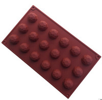 Wholesale 18 holes Gems chocolate Cake Mold Flexible Silicone Soap Mold For Handmade Soap Candle Candy bakeware baking moulds kitchen tools ice molds