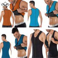 Wholesale Slimming Belt Belly Sheath Body Shaper Men Sweat Corset Neoprene Waist Trainer Vest Cincher Waist Training Corsets Sport Plus Size Shaper