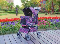 Wholesale New Large Fashion Flower Wheels Pet Dog Cat Stroller RainCover