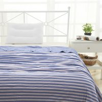 Wholesale NEW High quality Striped quilt knitted cotton washable cotton summer thin quilt blanket Japan style King Queen Full size