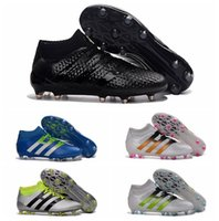 ankle pack - Cheap Ace Etch Pack FG AG ACE Primeknit Soccer Shoes Ace Purecontrol Football Cleats Mid Ankle Green Soccer Boots Shoes